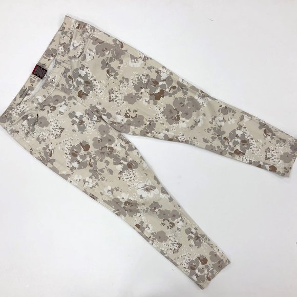 Merona Grey Flower Print Pants Size 12